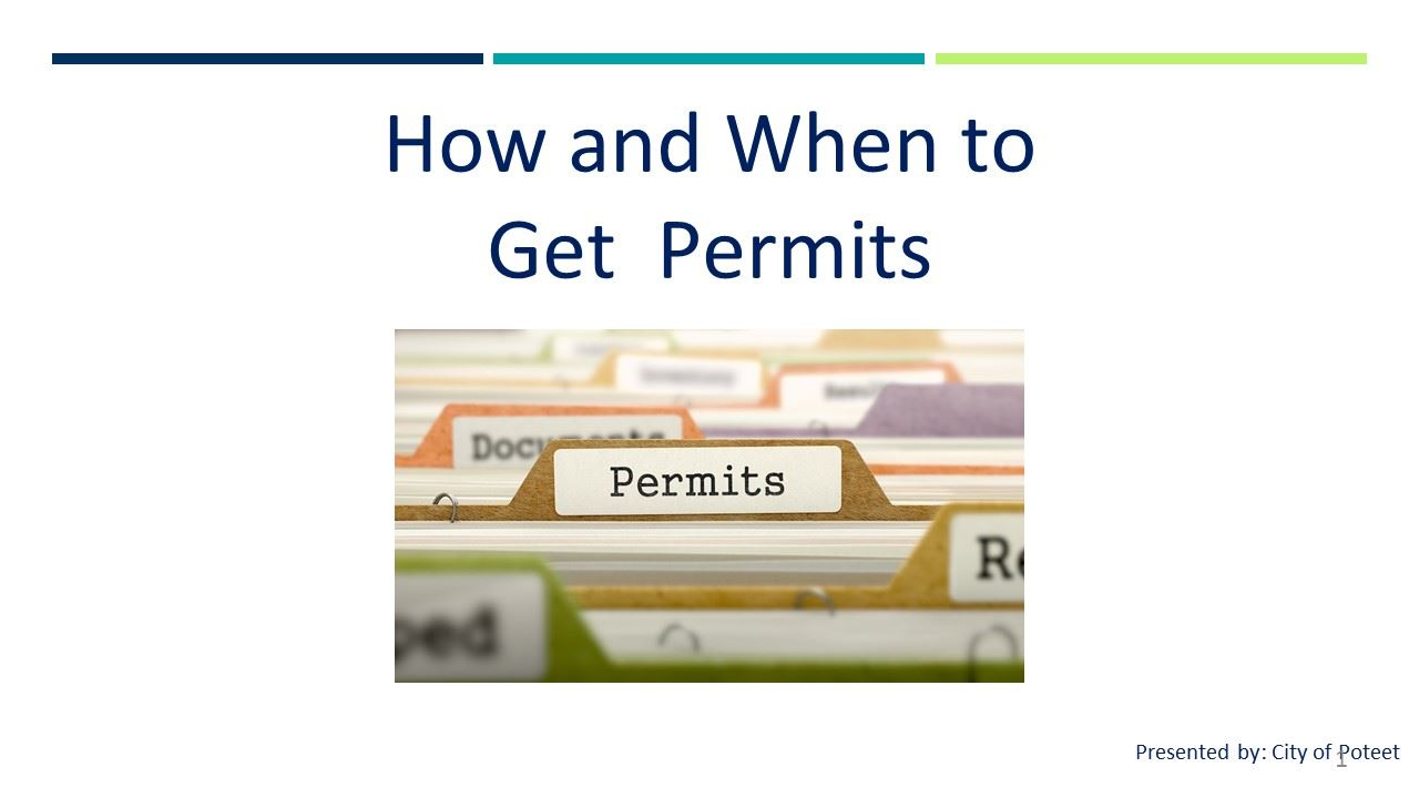 How and When to Get  Permits Opens in new window